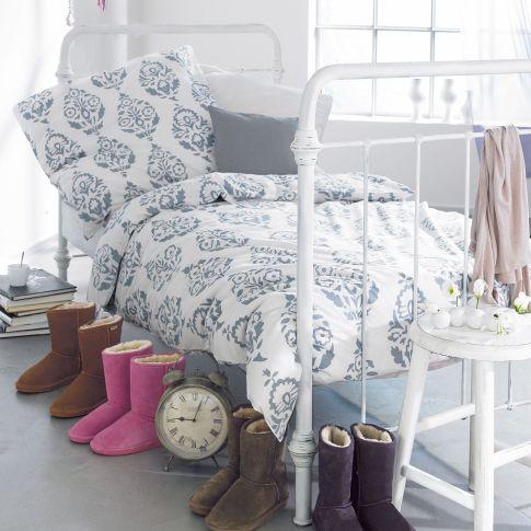 Startseite Living Möbel Betten Bett, Shabby Chic, Metall