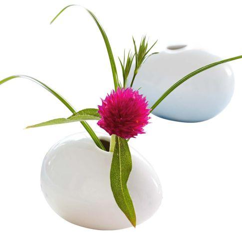 Mini-Vase Ei, Keramik, ca. B7 cm Vorderansicht