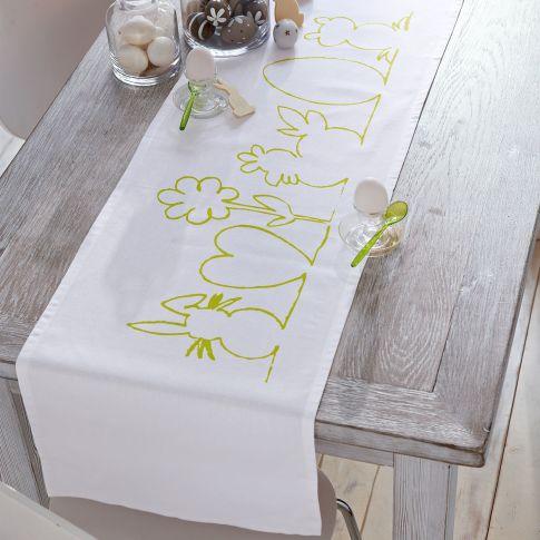 tischl ufer silhouette tischdecken und kissenh llen ostern saison. Black Bedroom Furniture Sets. Home Design Ideas