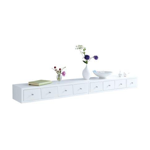 wandregal mit 4 schubladen holz ca 80 x 25 x 15 cm. Black Bedroom Furniture Sets. Home Design Ideas
