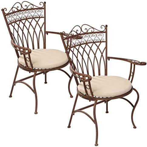 gartenstuhl set versailles 2 tlg romantik look metall gartenst hle gartenm bel garten. Black Bedroom Furniture Sets. Home Design Ideas