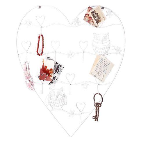 wandhalterung heart metall wandhaken deko wohnen. Black Bedroom Furniture Sets. Home Design Ideas