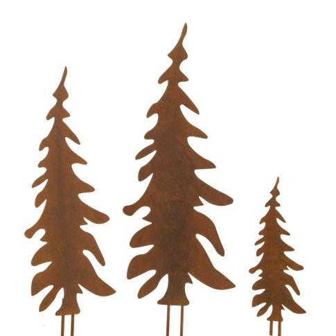 gartenstecker set tannenbaum 3 tlg rost finish metall. Black Bedroom Furniture Sets. Home Design Ideas
