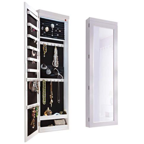 schmuckschrank spiegel mit led beleuchtung schmuckaufbewahrung bad. Black Bedroom Furniture Sets. Home Design Ideas