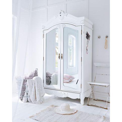 kleiderschrank mit spiegel barock stil kleiderstange mdf tannenholz kleiderschr nke. Black Bedroom Furniture Sets. Home Design Ideas