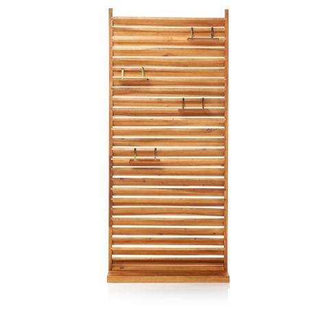 sichtschutz lamellen akazienholz. Black Bedroom Furniture Sets. Home Design Ideas