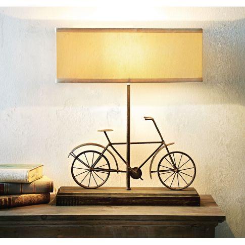 tischleuchte fahrrad modern holz metall tischleuchten lampen leuchten wohnen. Black Bedroom Furniture Sets. Home Design Ideas