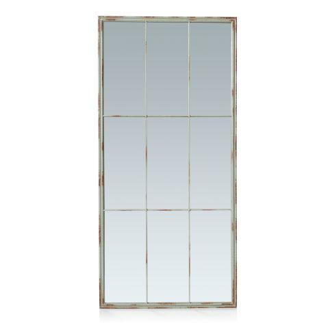 Spiegel, Industrial-Look, Metall/Glas Vorderansicht