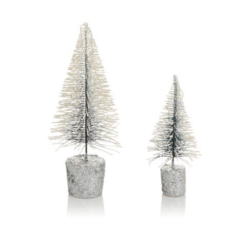 deko tannenbaum set 2 tlg glitzer dekor metall weihnachtsdekoration weihnachten. Black Bedroom Furniture Sets. Home Design Ideas