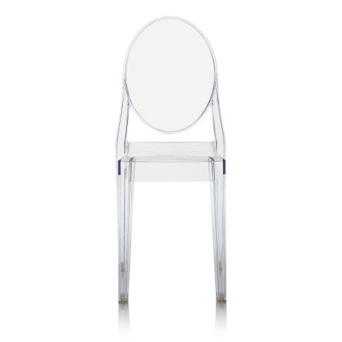 Designer-Stuhl, outdoorfähig, Polycarbonat Vorderansicht