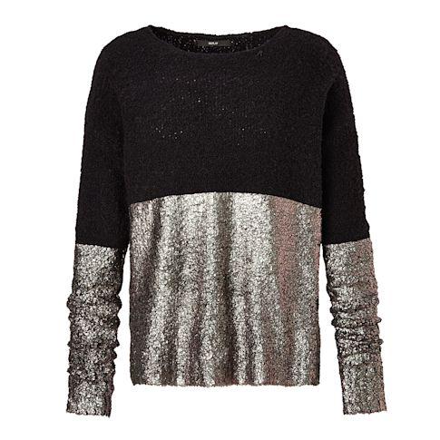 Pullover, Metallic-Optik Vorderansicht