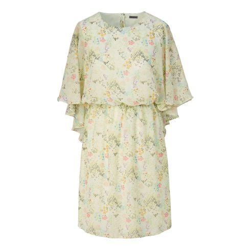 Kleid, Flügeloptik, Nackenschlitz, Bindeband, leger geschnitten, Romantik-Look Vorderansicht