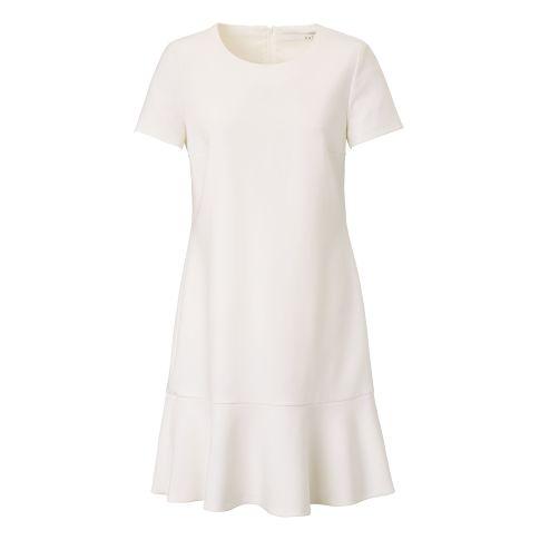 Kleid, puristisch, Volant, ausgestellt, klassisch Vorderansicht