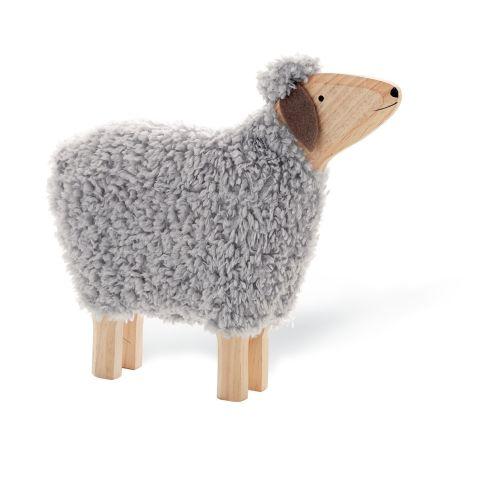 Deko Schaf Hanni Mit Echter Wolle Holz Ca B52 X T10 X
