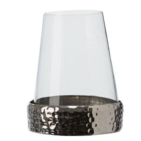 Windlicht Bari, Metall/Glas Vorderansicht