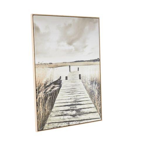 Bild Idylle, Fotodruck mit Holzrahmen Vorderansicht