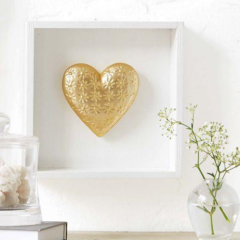 wand deko herz flower holz porzellan dekoartikel dekoration. Black Bedroom Furniture Sets. Home Design Ideas