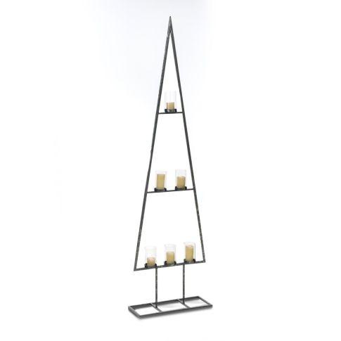 deko objekt tannenbaum mit windlichtern metall glas weihnachtsdeko weihnachten saison. Black Bedroom Furniture Sets. Home Design Ideas