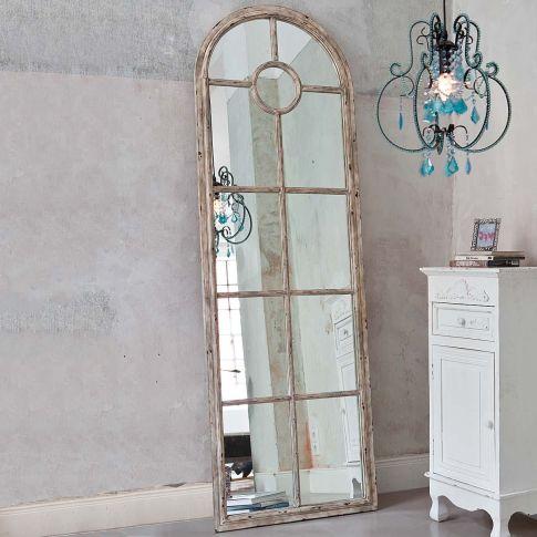 standspiegel fensteroptik shabby chic metall spiegelglas spiegel wohnen. Black Bedroom Furniture Sets. Home Design Ideas