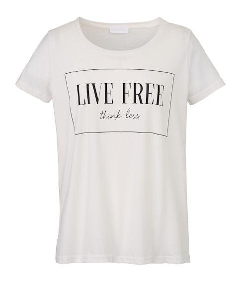 T-Shirt, Statement-Print, leger geschnitten, Casual Vorderansicht
