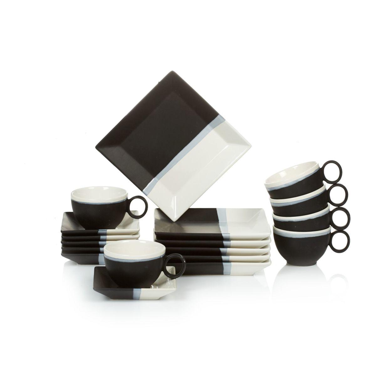 kaffee service 18 tlg modern g nstig schnell einkaufen. Black Bedroom Furniture Sets. Home Design Ideas