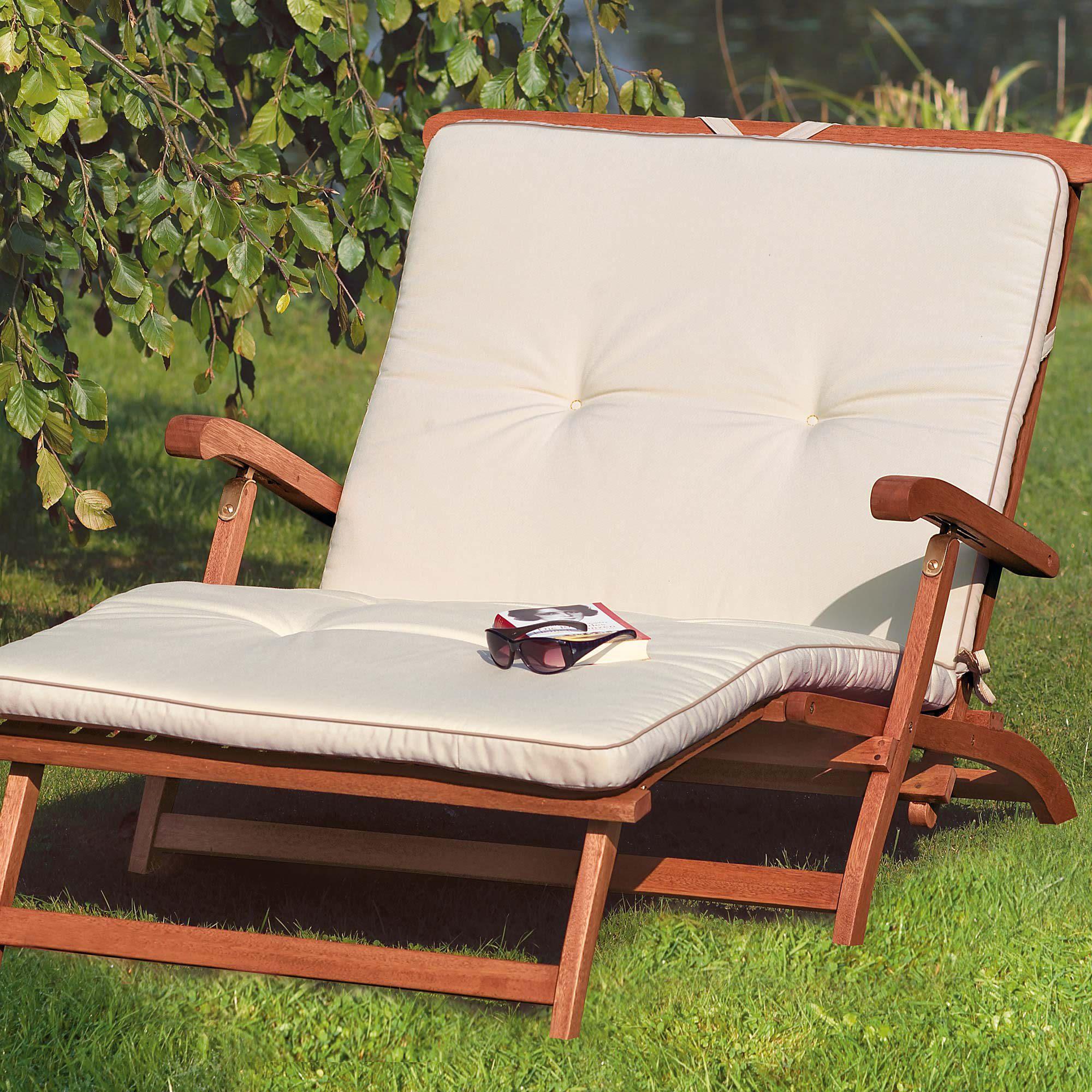 gartenliege holz mit auflage. Black Bedroom Furniture Sets. Home Design Ideas