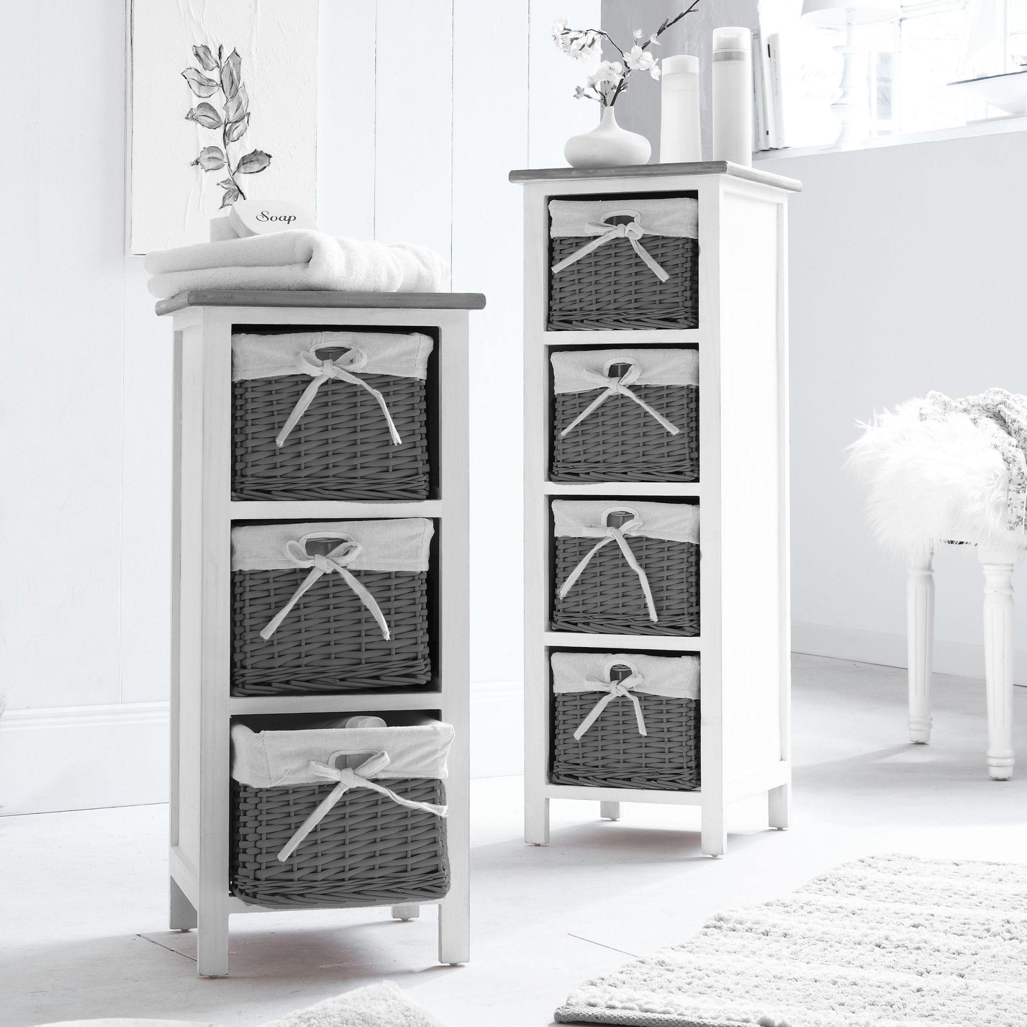 regal hedi mit 3 k rben wei grau badregal badezimmerm bel ebay. Black Bedroom Furniture Sets. Home Design Ideas