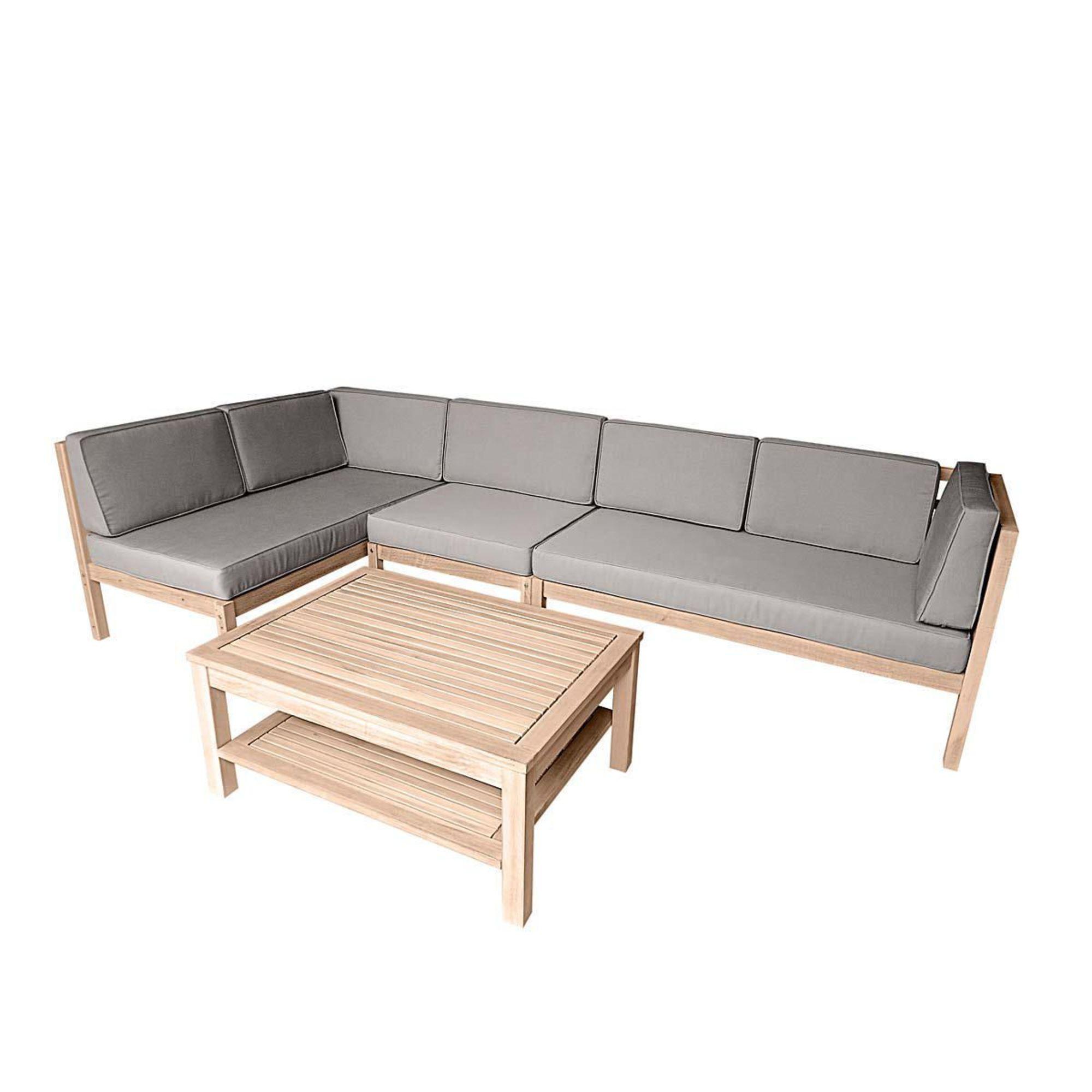 Sofabett holz  Gartenmöbel-Set Variabel, 3-tlg., inkl. Auflagen, Holz