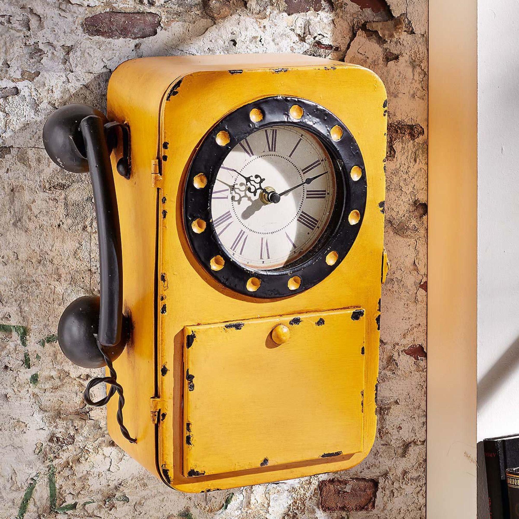 metall wanduhr telefon schl sselkasten antik uhr posttelefon wandtelefon antik ebay. Black Bedroom Furniture Sets. Home Design Ideas