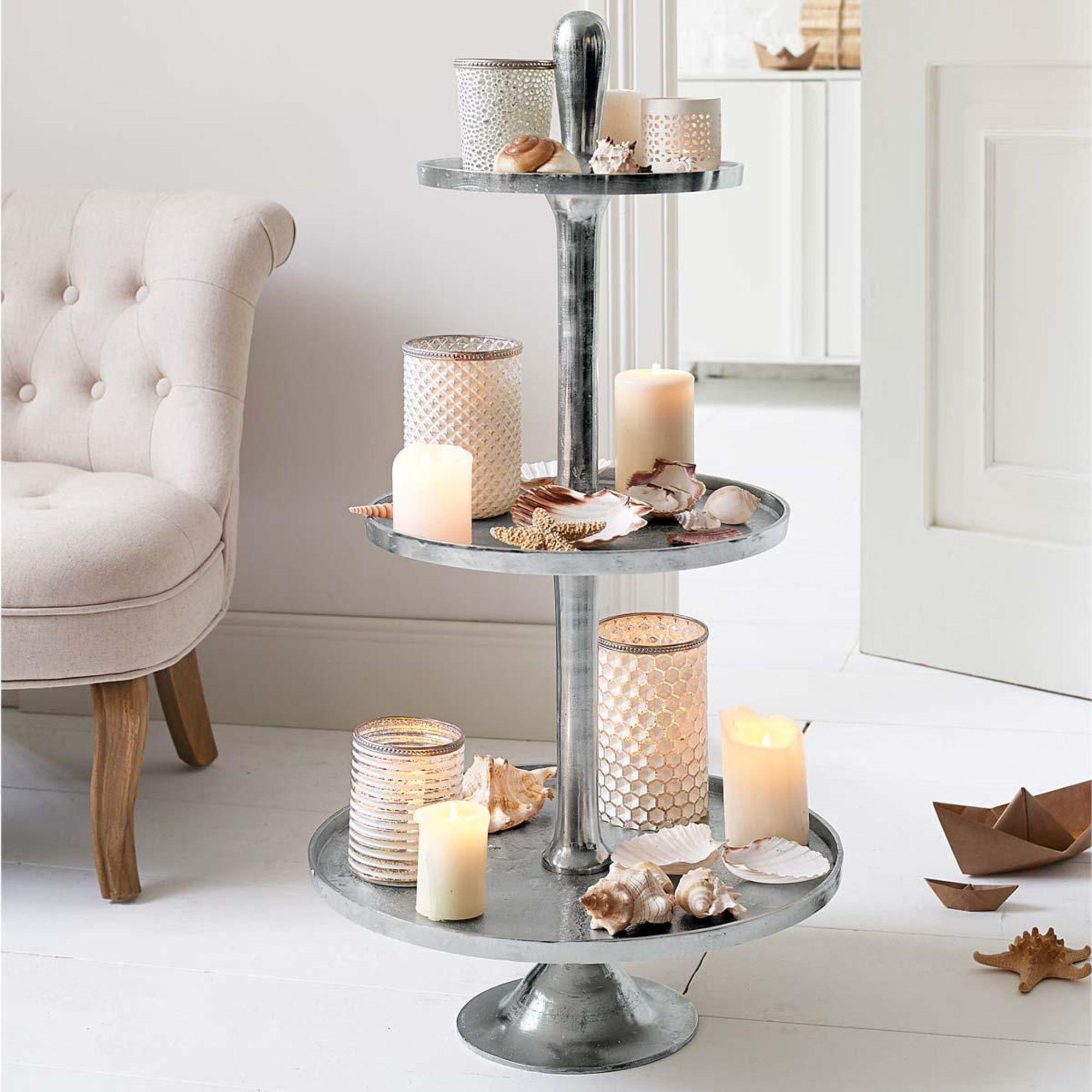 deko etagere nobel h95cm xxl metall empfangsbereich etagenturm dekoturm turm ebay. Black Bedroom Furniture Sets. Home Design Ideas