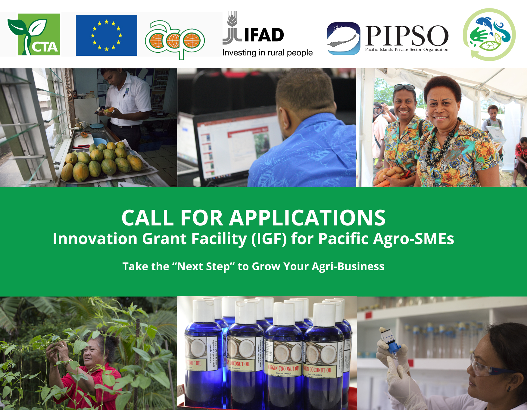 Opportunity for Pacific Agro-SMEs to Grow their Business: Innovation Grant Facility (IGF)