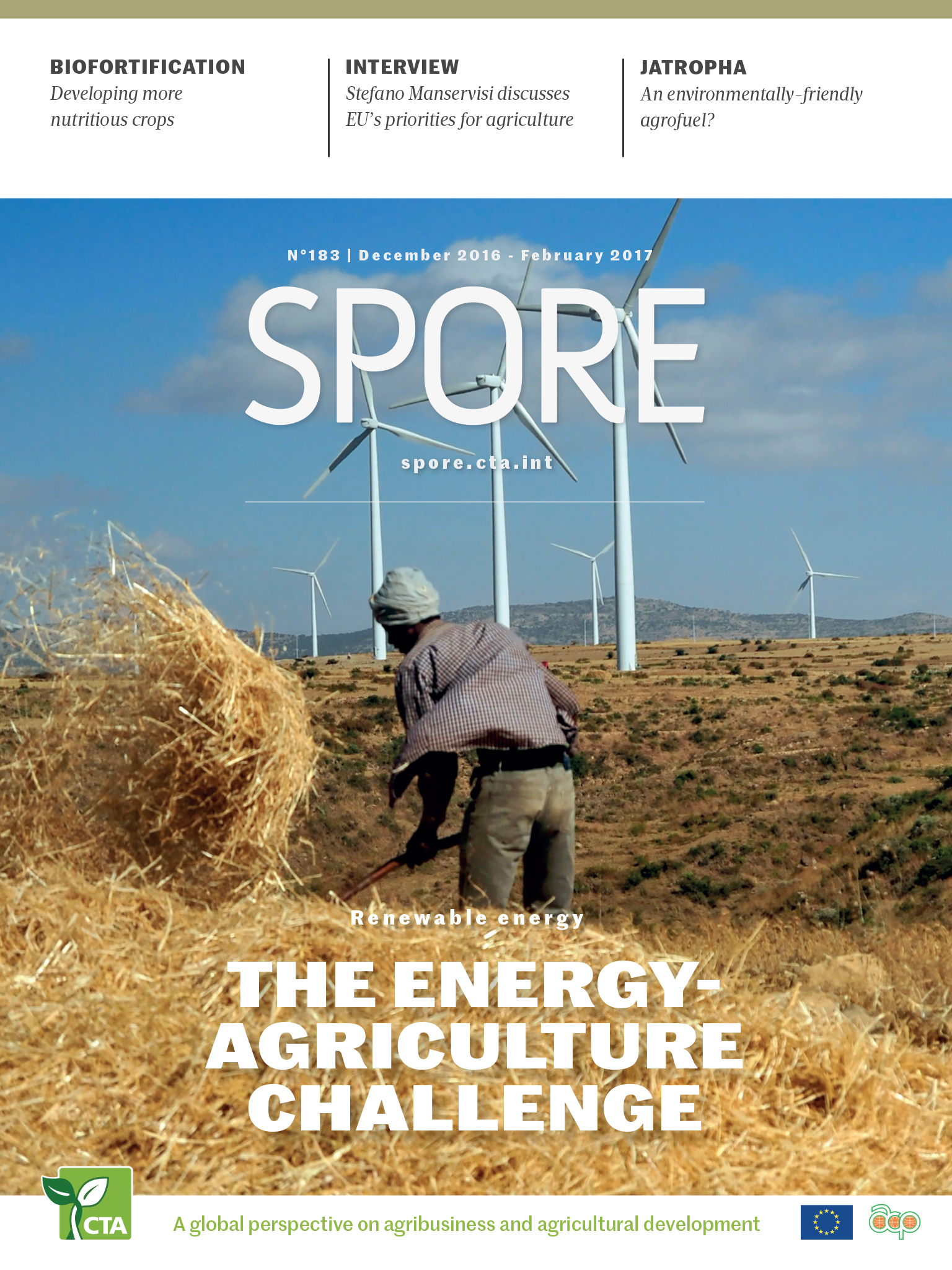 Renewable energy: The energy-agriculture challenge