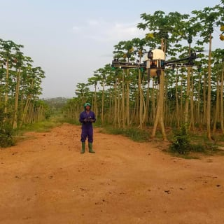 In Ghana, AcquaMeyer Drone Tech design and manufacture drones that address specific problems, such as agrochemical application