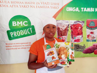 Through her company, Better Markets for Crops Products Limited, Zena Mshana is providing healthy snacks to the local population and income opportunities for women and youths