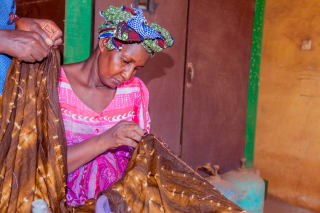 Aïssata Camara is one of 2,000 Malian artisans who has received equipment and training for her cotton textile business.