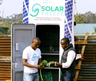 Solar Freeze mobile cold storage units are reducing post-harvest loses among users by 40-60%