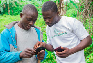 The Extramile Africa mobile app stores smallholder financial and transactional information and enables farmers to receive agricultural investment