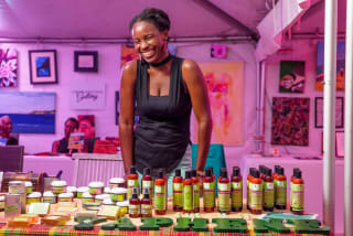 In Saint Kitts and Nevis, entrepreneur Anastasha Elliot is processing food and cosmetic products using organic, locally produced plants, fruits and herbs