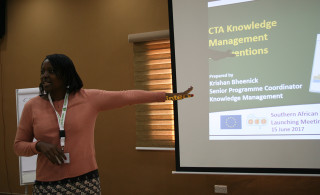 CTA Knowledge Management interventions presented by Mariam Kadzamira, Malawi