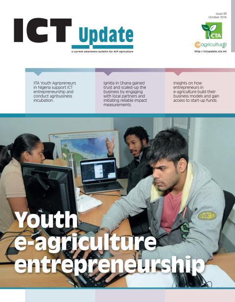 ICT Update 83: Youth e-agriculture entrepreneurship