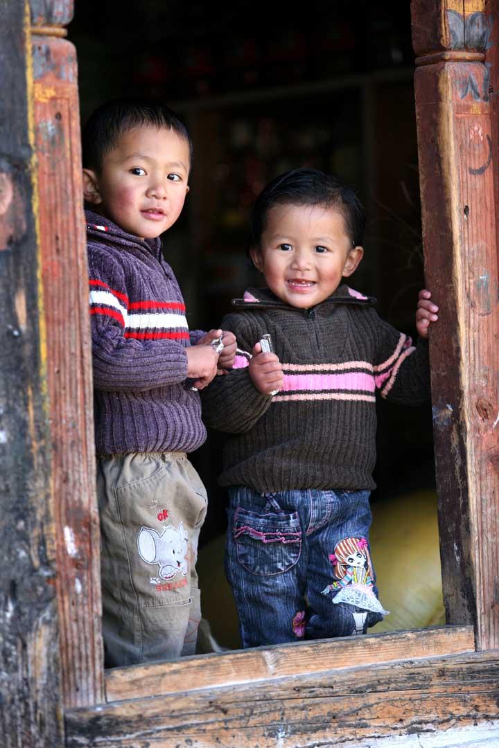 Children at the door