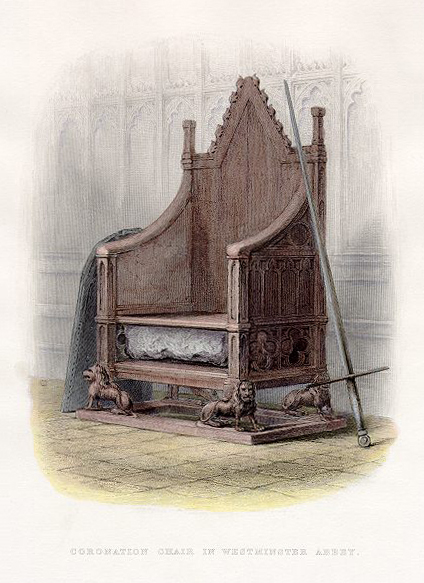 Coronation Chair in Westminster Abbey