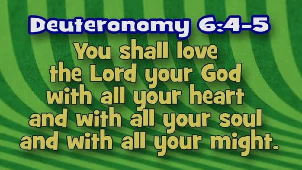 Deuteronomy 6:4-5 (Stripes)