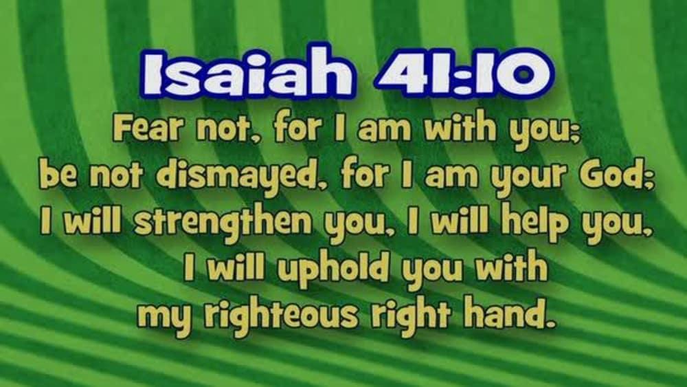 Isaiah 41:10 (Stripes)