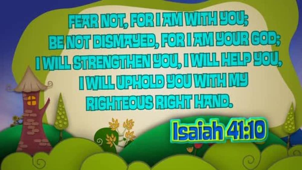 Isaiah 41:10 (Hills)