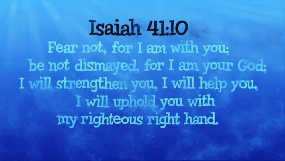 Isaiah 41:10 (Ocean)