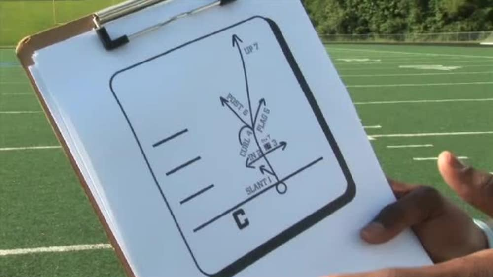 Football route running