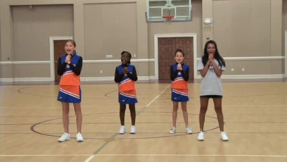 Cheering practice clapping and clasping