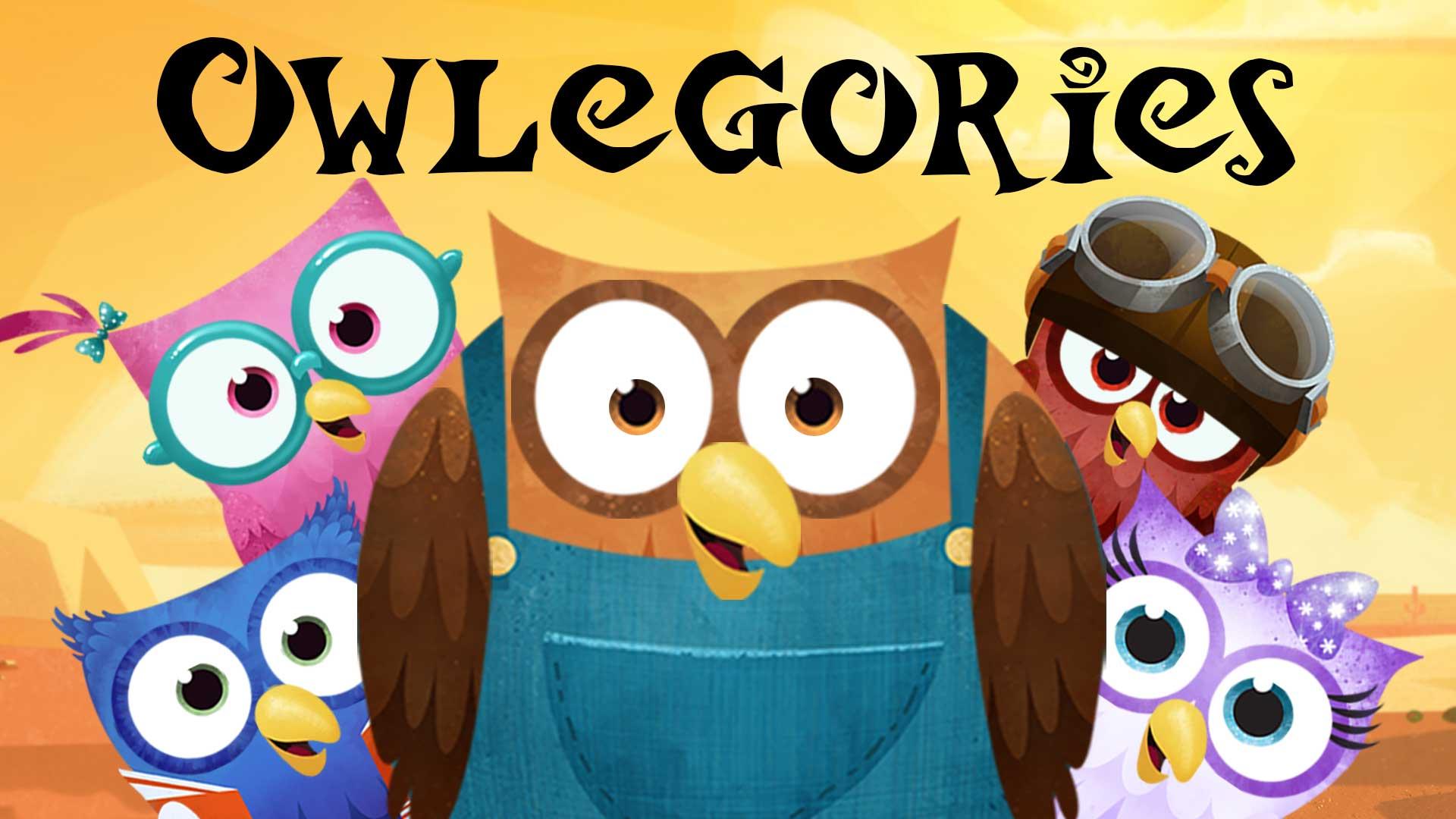 Owlegories series logo