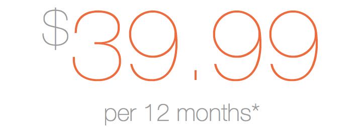 Yearly sub 39.99